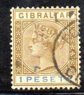APR382 - GIBILTERRA 1895 , Unificato N. 31 Usato (2380A) - Gibilterra