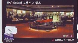 Télécarte JAPON * OLDTIMER * MITSUBISHI  (411) Phonecard JAPAN * VOITURE * Auto * CAR * TELEFONKARTE * - Voitures
