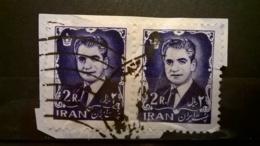 FRANCOBOLLI STAMPS IRAN 1962 USED SU FRAMMENTO MOHAMMAD REZA FRAGMENT - Iran
