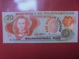 PHILIPPINES 20 PISO 1974-85 PEU CIRCULER/NEUF - Philippinen