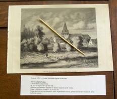 Gravure  1874   Avec Texte Au Verso     La TULPE  Terhulpen  église ST -- Nicolas - La Hulpe