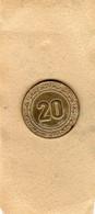 Monnaie D'Algérie 20 Centimes 1975 En Aluminium-bronze - T T B - - Algeria