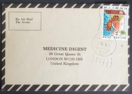 1984, IRAN, Medicine Digest, Carte Response, Garmsar - London - Iran