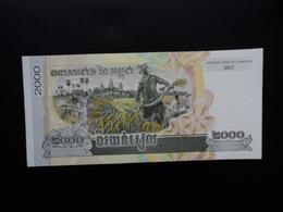 CAMBODGE : 2000 RIELS   2007   P 59a     NEUF - Cambodia