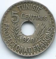 Tunisia - AH1339 (1921) - Muhammad V - 5 Centimes - KM245 - Tunisia