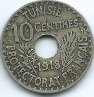 Tunisia - AH1337 (1919) - Muhammad V - 10 Centimes - KM243 - Tunisia