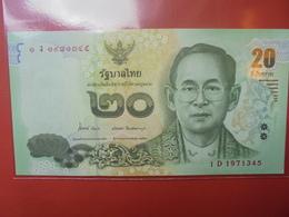 THAILANDE 20 BAHT 2013 PEU CIRCULER/NEUF - Thaïlande