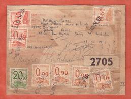FRANCE COLIS  POSTAUX SUR DOCUMENT DE 1966 DE LIEVIN POUR QUEYRAC MONTALIVET - Brieven & Documenten