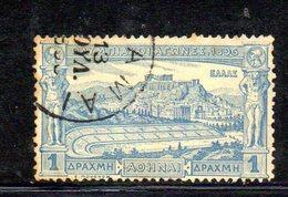 APR387 - GRECIA 1896, 1 Dracma Unificato N. 109 Usato . (2380A) - Oblitérés