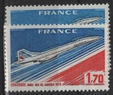 FR PA100 - FRANCE PA 49 Neufs** Variétés De Couleurs Bleu Clair Et Bleu Foncé - Variétés Et Curiosités
