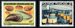 POLYNESIE 1981 - Yv. 163 Et 164 **   Cote= 4,00 EUR - Aquaculture : Moule (2 Val.)  ..Réf.POL23883 - Französisch-Polynesien