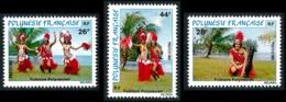 POLYNESIE 1981 - Yv. 165 166 167 **   Cote= 6,20 EUR - Folklore Polynésien : Danses (3 Val.)  ..Réf.POL23884 - Polynésie Française