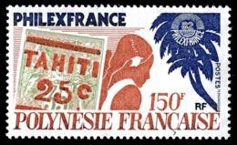 POLYNESIE 1982 - Yv. 180 **   Cote= 5,50 EUR - PhilexFrance'82 Timbre Sur Timbre  ..Réf.POL23893 - Polynésie Française