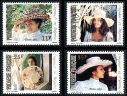 POLYNESIE 1983 - Yv. 198 199 200 201 **   Cote= 3,20 EUR - Chapeaux Tressés (4 Val.)  ..Réf.POL23904 - Französisch-Polynesien