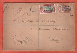 INDE LETTRE RECOMMANDEE DE 1933 DE PONDICHERY POUR PARIS FRANCE - Covers & Documents
