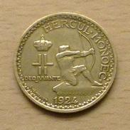 MONACO 1 Franc 1924 De Qualité - Monaco