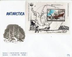 Belgien Belgie Belgium 1966 - Antartica -  MiNr Block 36 FDC - Stempel: Antwerpen - Antarktis-Expeditionen