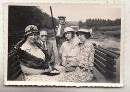 Descente De La Semois De Chiny à La Cuisine - 1933 - Photo Format 6 X 8.5 Cm - Barche