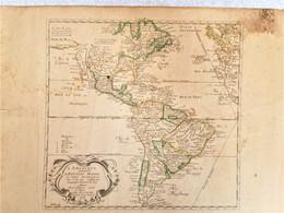 Carte Rare Map L'Amerique Autrement Le Nouveau Monde Et Indes Occidentales 1664 Firstt Complete State Duval - Geographical Maps
