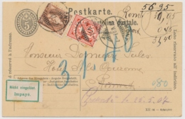 88A / 83 Mischfrankatur Ziffermarke / Stehende Helvetia Gelaufen Ab Romont - Nicht Eigelöst - Impayé - Covers & Documents