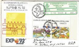 CC CON ATM EPELSA RUMBO AL 92 SEVILLA EXPOSICION UNIVERSAL Y MAT PRIMER DIA - 1992 – Sevilla (España)