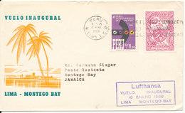 Peru First Flight Cover Lufthansa Lima - Montego Bay 16-1-1966 - Peru