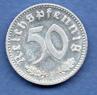 Allemagne   - 50 Reichspfennig  1944 F-  état TTB+ - [ 4] 1933-1945 : Tercer Reich