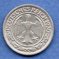 Allemagne   - 50 Reichspfennig  1930 D-  état TTB - 50 Rentenpfennig & 50 Reichspfennig