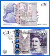 Royaume Uni 20 Pounds 2015 NEUF UNC Sign Victoria Cleland Grande Bretagne UK United Kingdom Queen 2 Ppal Bitcoin OK - 20 Pounds