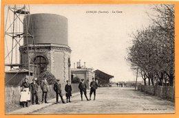 Conlie La Gare France 1910 Postcard - Conlie