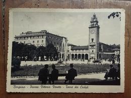 Bergamo - Piazza Vittorio 1939 - Cartolina Viaggiata + Spese Postali - Bergamo