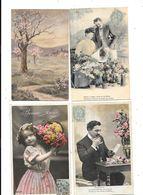 11118 - Lot De 300 CPA Fantaisies : Hommes, Femmes, Enfants, Couples, Fleurs, Paysages, - Cartoline