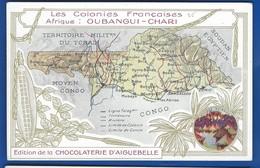 Les Colonies FRANCAISES   Afrique:   OUBANGUI-CHARI - Cartes Géographiques