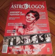 Sophia Loren - ASTROLOGOS Serbian September 2005 VERY RARE - Books, Magazines, Comics