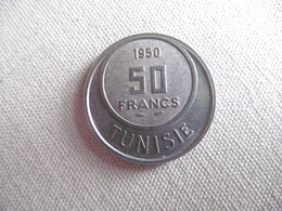 (D323)-TINISIE-PIECE DE 50 FRANCS 1950 - Tunisie