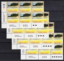 New Zealand 1995 Scenery 10c Control Blocks Kiwi Reprints As Shown MNH - New Zealand