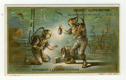 CHROMOS / LITH. MINOT /CHOCOLAT GUERIN BOUTRON...DIFFÉRENTES  INDUSTRIES...SCAPHANDRIERS A LA LUMIÈRE ELECTRIQUE - Guérin-Boutron