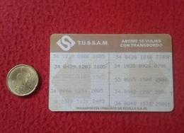 SPAIN ANTIGUO TICKET BILLETE DE TRANSPORTE 1994 BONO BUS BONOBUS TUSSAM TRANSPORTES URBANOS SEVILLA BIGLIETO ANDALUSIA - Transportation Tickets