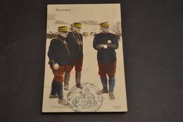 Carte Postale 1914/18 Patriotique Nos Chefs Cachet Place De Calais Le Gouverneur - Patriotiques