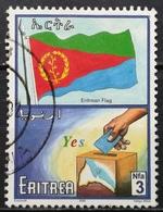 2000 ERITREA Progress And National Symbols Flag Of Eritrea And Election Box - Eritrea