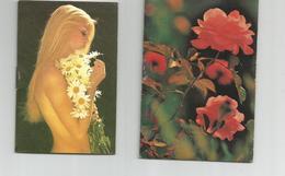 PETITS CALENDRIERS  1979...1980..... RECTO VERSO ET INTERIEUR(pour Les Deux Premiers) - Publicité