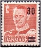 DENEMARKEN 1955 Opdruk 30 Op 25öre Type II PF-MNH - Unused Stamps