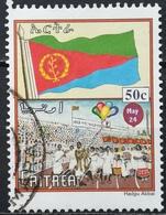 2000 ERITREA Progress And National Symbols Flag Of Eritrea And Crowd Celebrating Independence - Eritrea