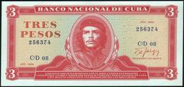 CUBA - 3 Pesos 1988 UNC P.107 B - Cuba