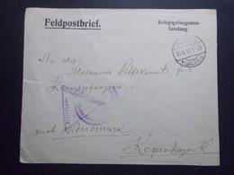 Marcophilie  Cachet Lettre Obliteration - Prisonnier Guerre  - 1914/1918 (2377) - Postmark Collection (Covers)