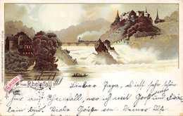 GRUSS Vom RHEINFALL-PANORAMA VIEW-C JURISCHEK 1898 POSTMARK PHOTO POSTCARD 40394 E - SH Schaffhausen