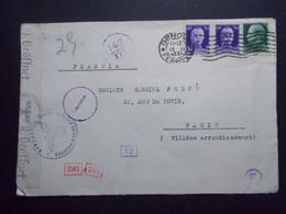 Marcophilie  Cachet Lettre Obliteration - ITALIE Censure Allemande  - 1942 (2378) - 1900-44 Vittorio Emanuele III