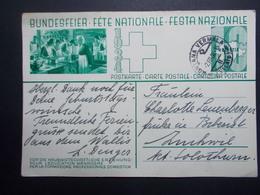 Marcophilie  Cachet Lettre Obliteration - SUISSE Carte Entier Postal  - 1934 (2379) - Switzerland