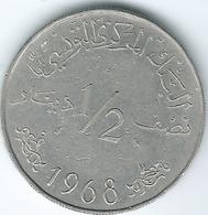 Tunisia - 1968 - ½ Dinar - KM291 - Tunesië