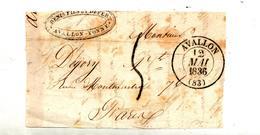 Petit Fragment De Lettre Cachet Avellon 1 Decime - Marcophilie (Lettres)